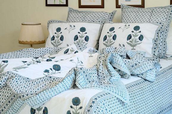 Teel Blue Duvet Cover