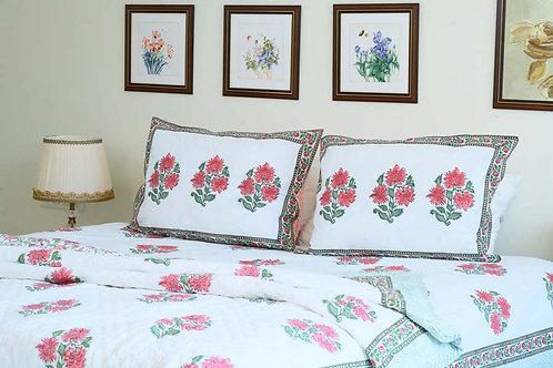 Pink Floral Quilt