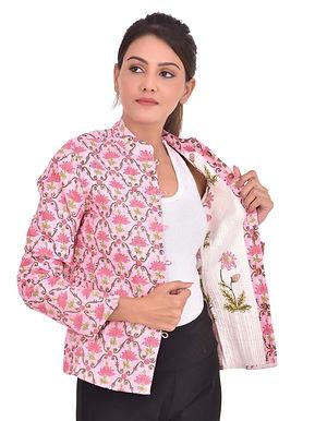 Pink Lotus Jaali Jacket