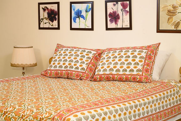 Orange Daisy  Bedsheet