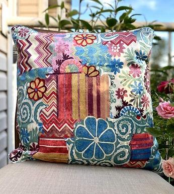 Velvet Decorative Pillow case (Bohemian Blue)