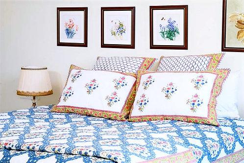 Blue Jaali  Bedsheet