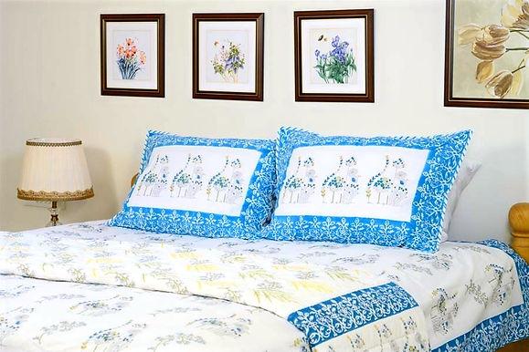 Blue Yellow Poppy Quilt