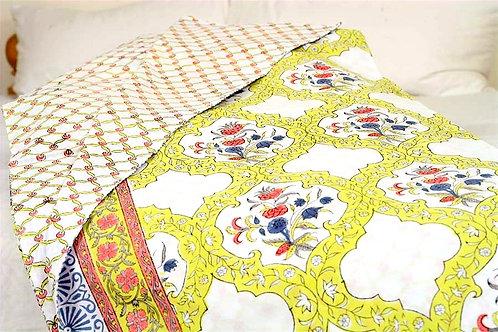 Yellow Jaali Duvet Cover