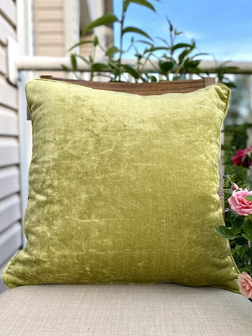 Amber & Sapphire Velvet Decorative Pillow case (Green)