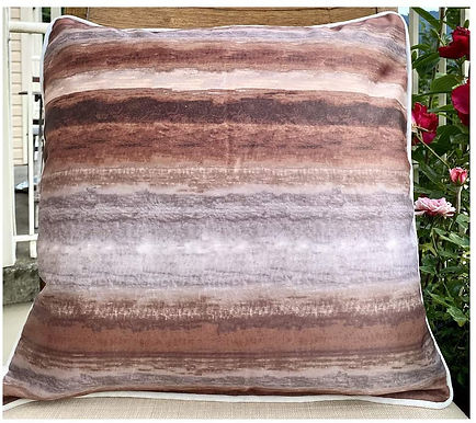 Throw Pillow case Size  (Coffee stripes)