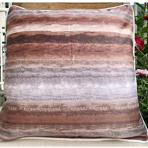 Throw Pillow case Size  (Coffee stripes)