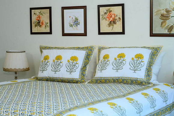 Yellow Floral Bedsheet