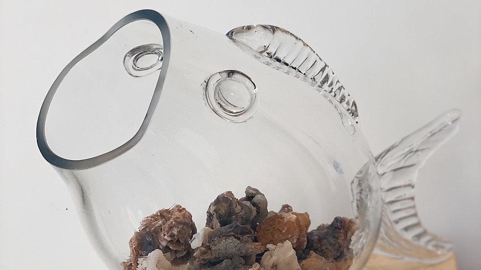 70's blown glass fish