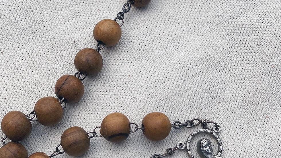 Long vintage wood Rosary