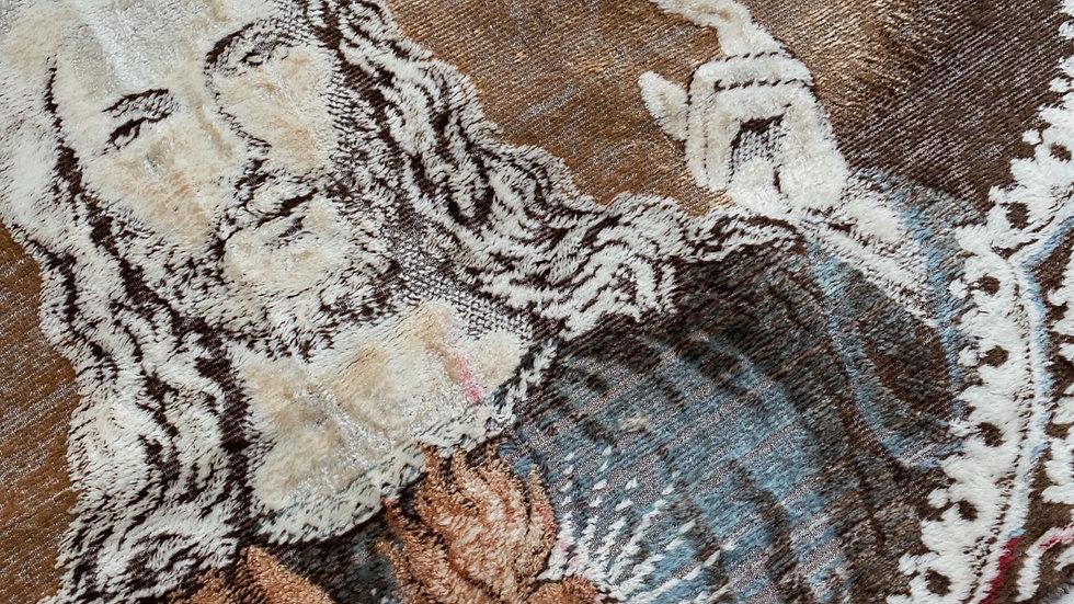 Vintage velvet Jesus tapestry