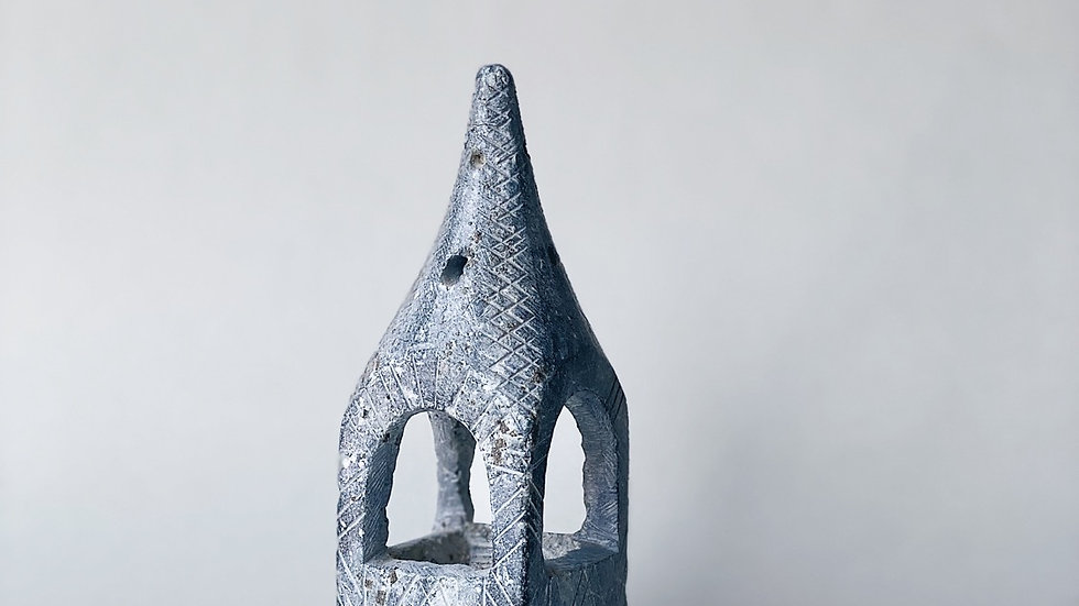 Carved stone incent burner