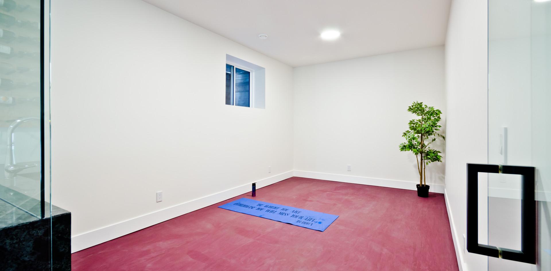 Red rubber floor