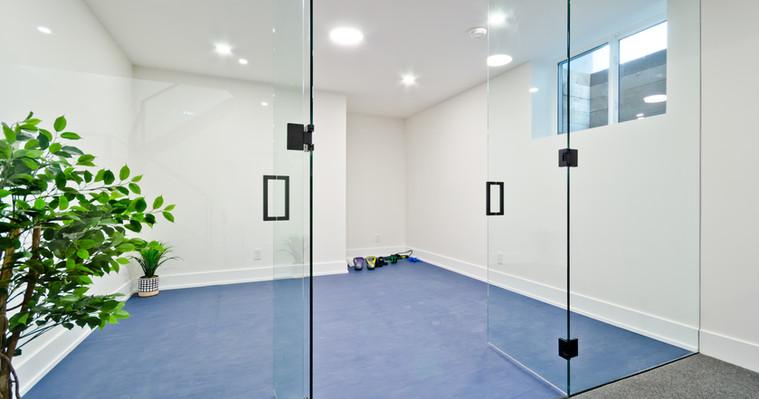 Blue rubber floor