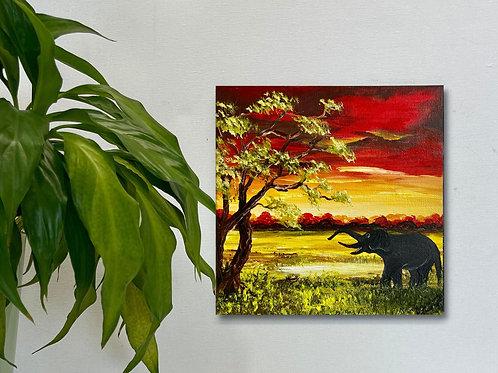 Elephant's Breakfast 20x20 cm