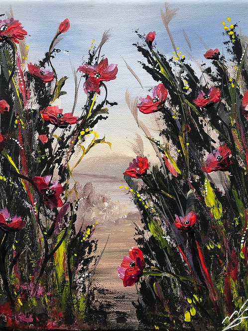 Print of Wild Poppies painting