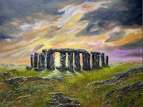 Stone Henge under a Stormy Sky 60x50 cm