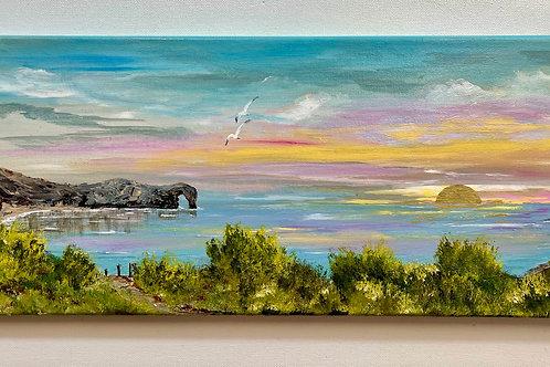 Durdle Door Golden Sunset 50x20 cm