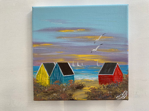 Sold/Three Beach-huts on the Beach
