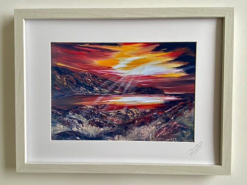Framed Print of 'The Creation of Lulworth Cove'