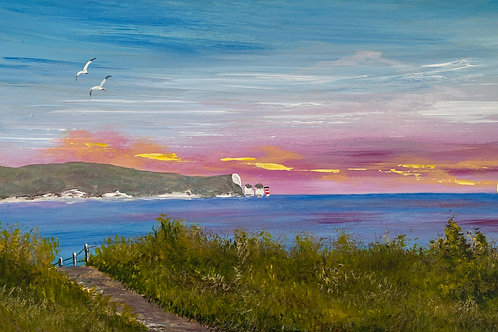 "Sold/Isle of Wight on a Panoramic Canvas. 20""x10"""