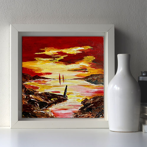 Red Sails in the Sunset 20x20cm
