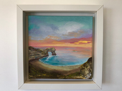 Sold/Orange Sunset over Durdle Door
