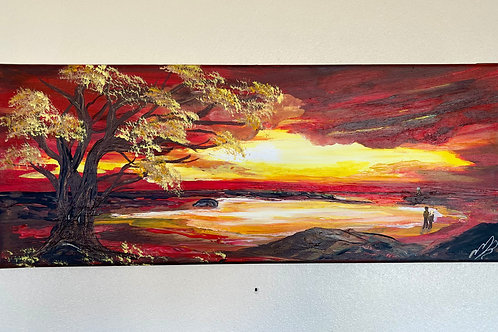 Sunset over the Bay 50 x 20
