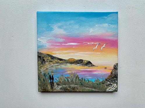 Sold/Sunrise over Lulworth Cove