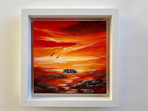 Sold/Red Sunrise over Stone Henge