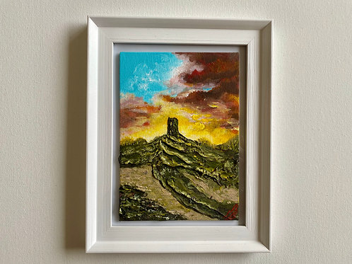 Glastonbury Tor in a Frame. 5'x7' Canvas