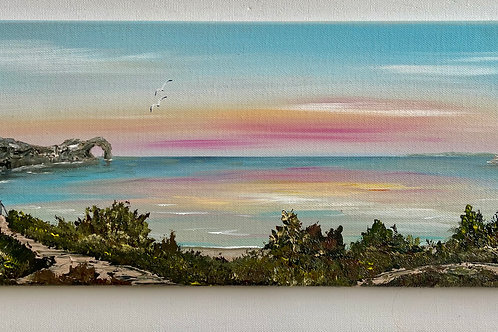 Sold/Durdle Door Sunset 50x20cm
