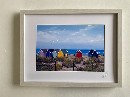 Framed Print of Beach Huts on the Beach