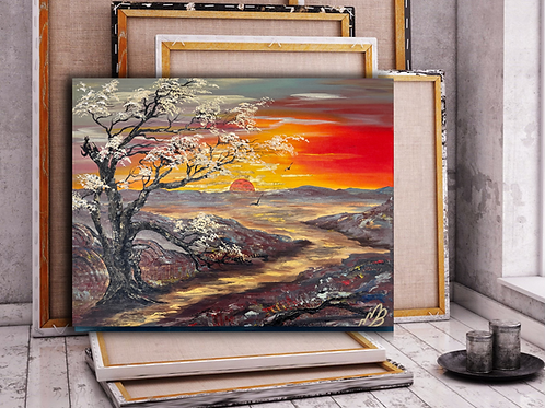 New Forest Sunset/Canvas Print