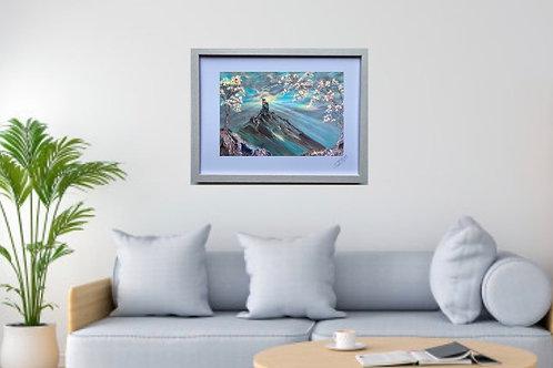 Framed Print of Corfe Castle in Bloom