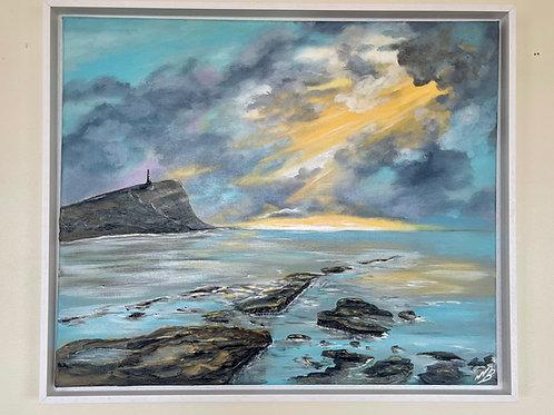 Sunrays over Kimmeridge Bay