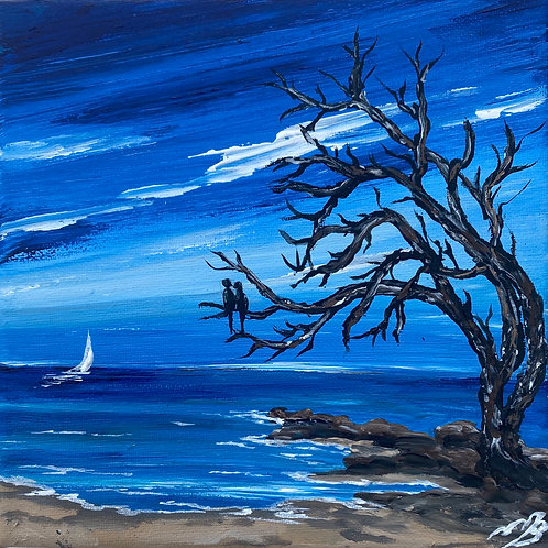 Print of 'The Old Tree by the Shore-8'x8'