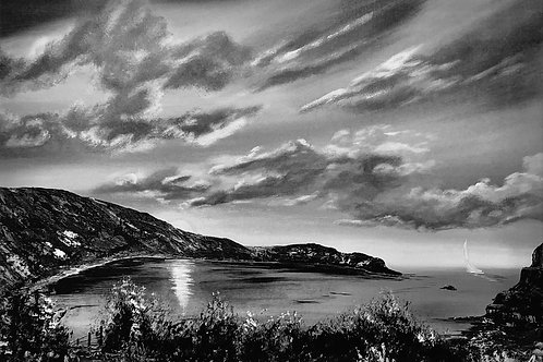 A4 Print of Lulworth Cove on Sepia