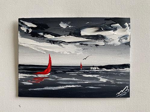 Sold/Old Harry Rocks. 7'x5' Canvas Board