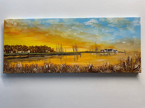 Sold/Muddeford Quay on a Panoramic Canvas
