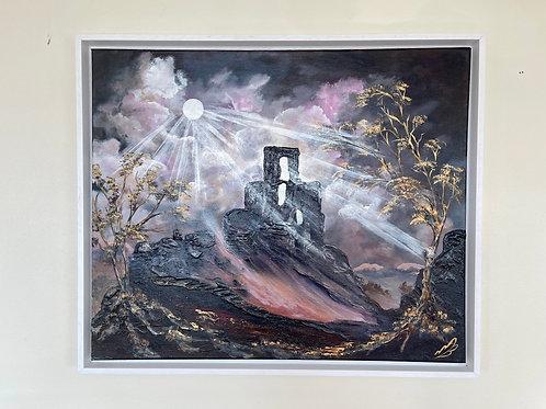 Moonlight over Corfe Castle 60x50 cm