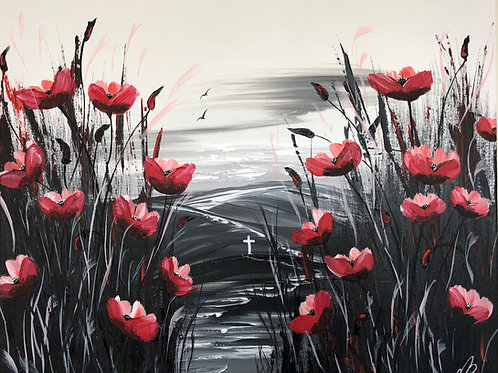 In Memory of the Fallen. 60x50 cm