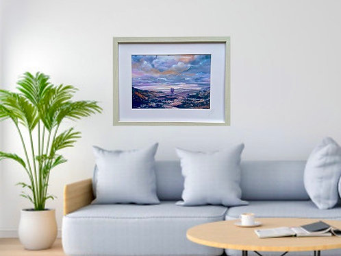 Framed print of Lilac Tree at the Crossroad
