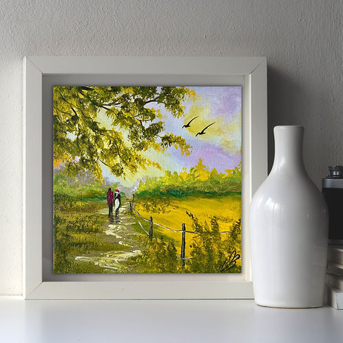 Romance in Springtime 20x20cm
