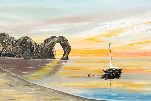 Print from Durdle Door at Sunrise