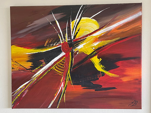 Release and Let Go.  20x16 inches