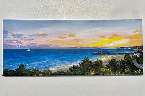 Bournemouth Pier Sunset 50x20 cm