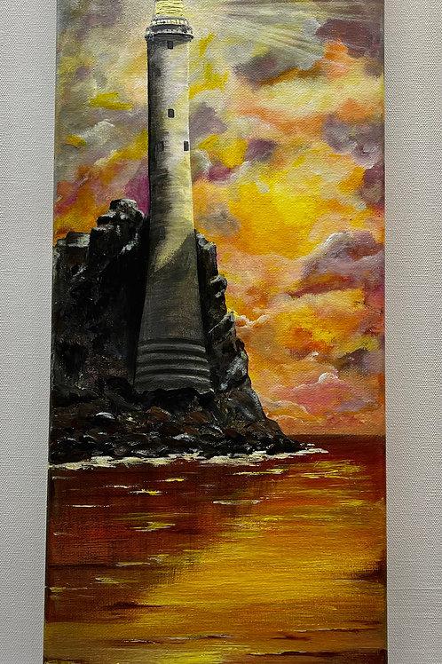 Fastnet Lighthouse at Sunset 50x20cm