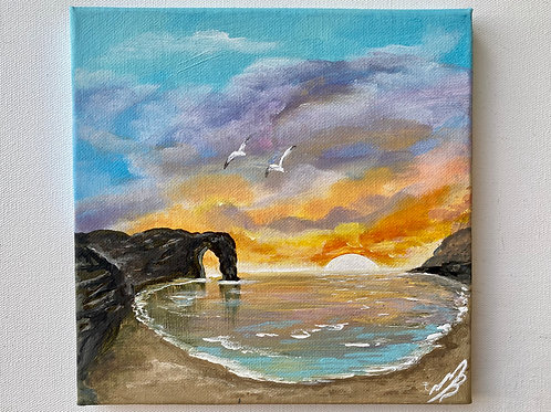 Sold/Sunset over Durdle Door