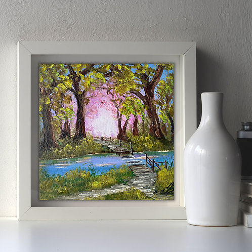 Sold/Walking in the New Forest 20x20cm